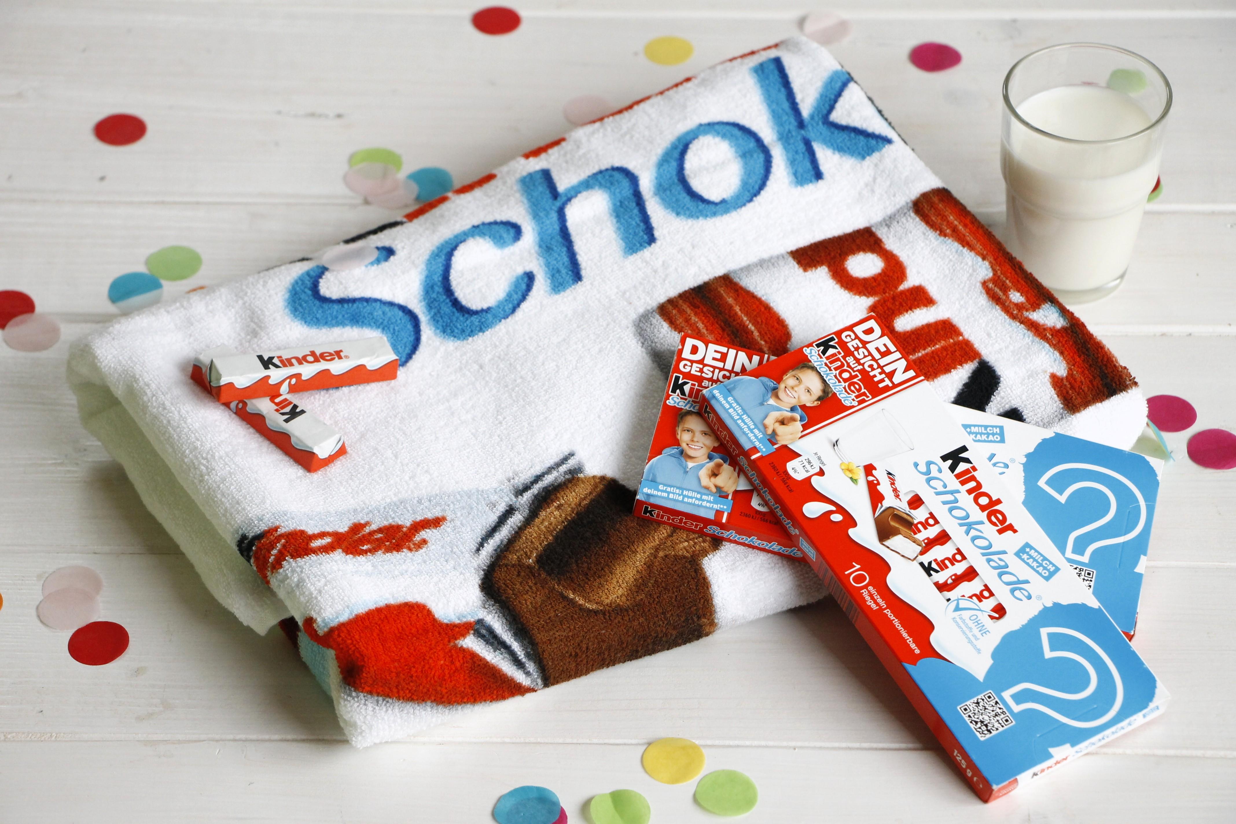 Kinder Schokolade Gewinnspiel Kinder Schokolade Handtuch