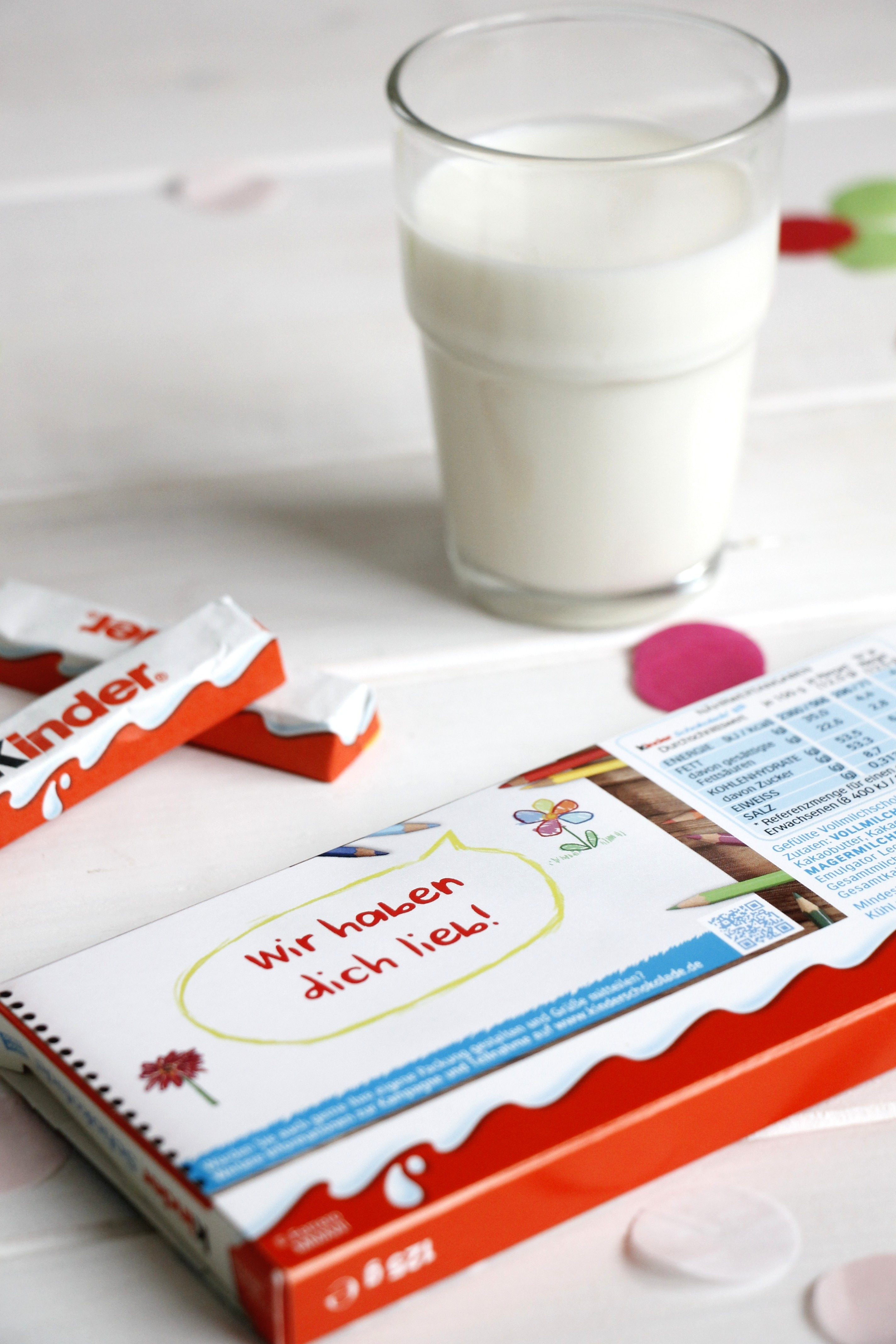 Personliche Kinder Schokolade Aktionspackung Lavendelblog