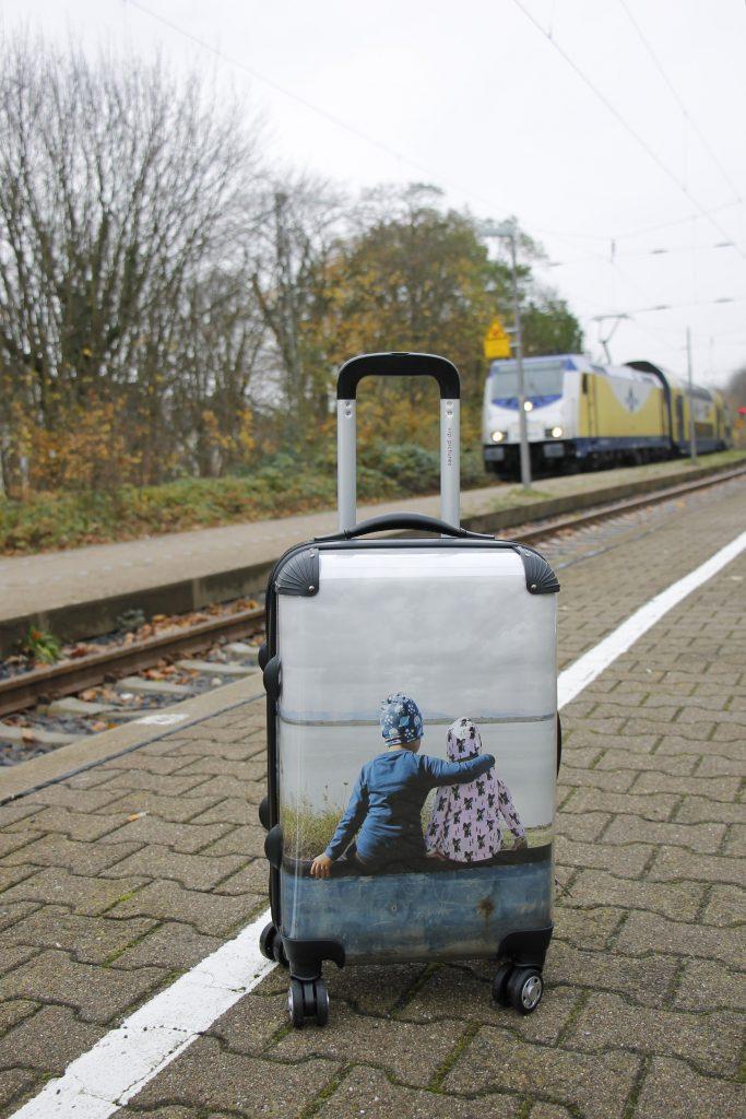 selbst bedruckter Koffer Fotogeschenk