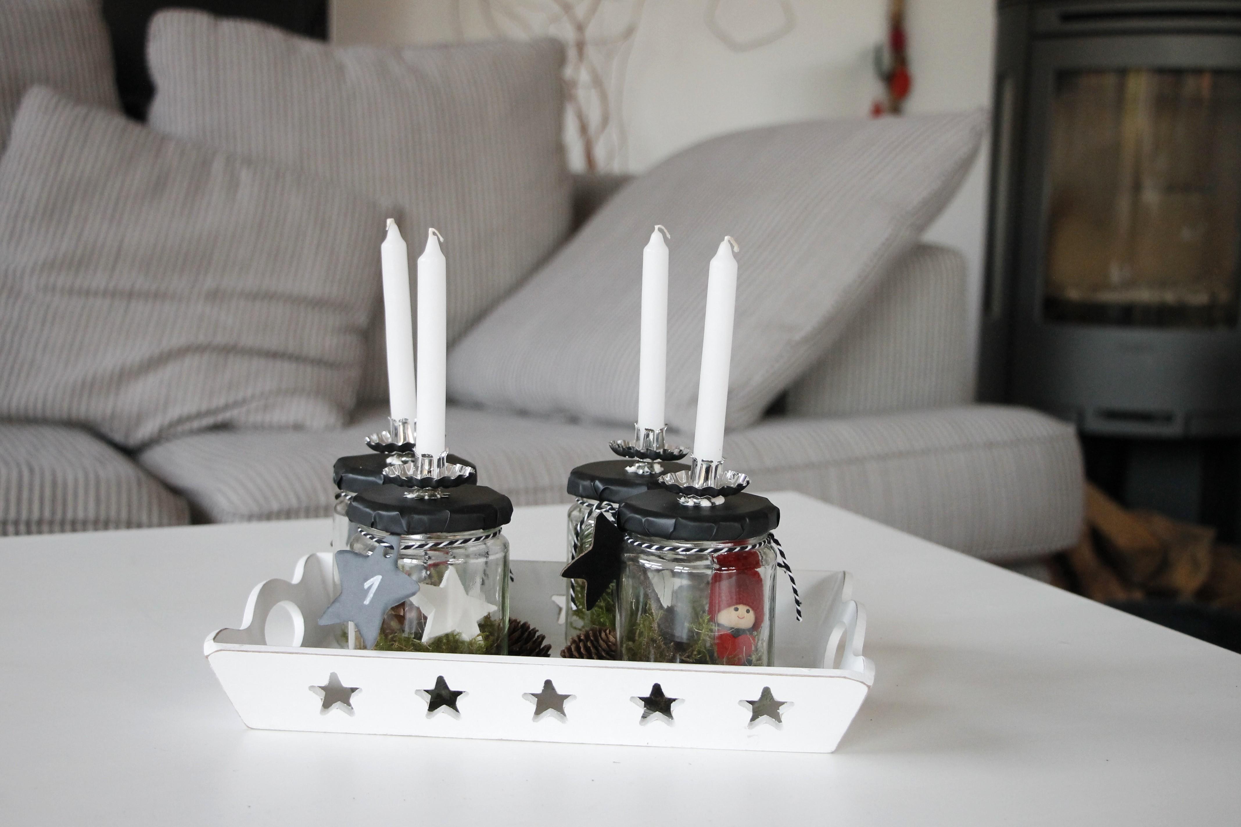 adventskranz mit wei en kerzen otto shopping festival. Black Bedroom Furniture Sets. Home Design Ideas