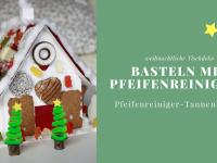 Basteln mit Pfeifenreinigern: Pfeifenreiniger-Tannenbaum als weihnachtliche Tischdeko