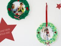 DIY: Selbstgebastelter Pappteller-Weihnachtskranz als Geschenkidee für Oma und Opa