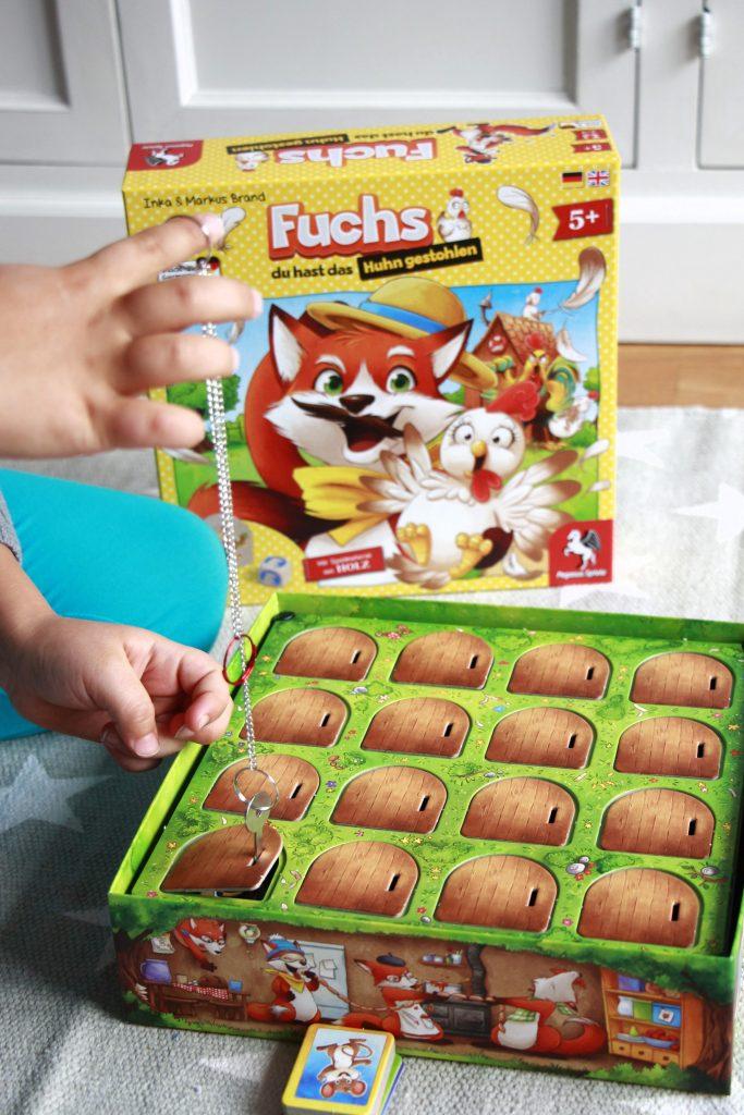 Fuchs du hast das Huhn gestohlen Brettspiel