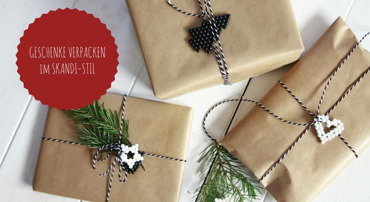 Geschenke verpacken Weihnachten