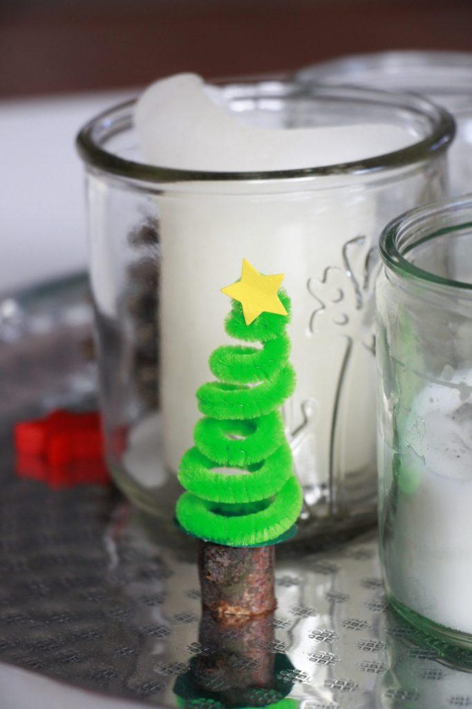 Pfeifenreiniger basteln Weihnachten