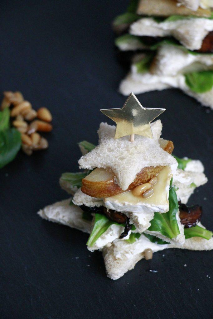 Weihnachtsbaum Sandwich Rezept