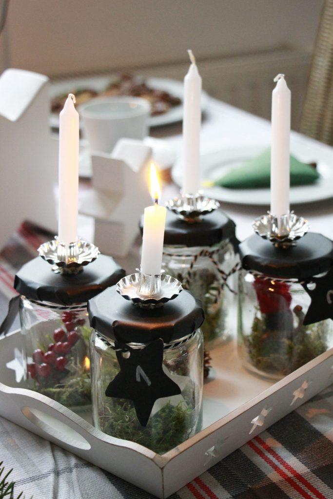 Skandinavischer adventskranz tischdeko erwin m ller lavendelblog - Tischdeko advent ...