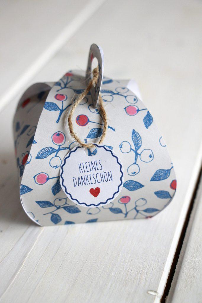 Schnelles Dankeschon Geschenk Geschenkbox Basteln Inkl Freebie