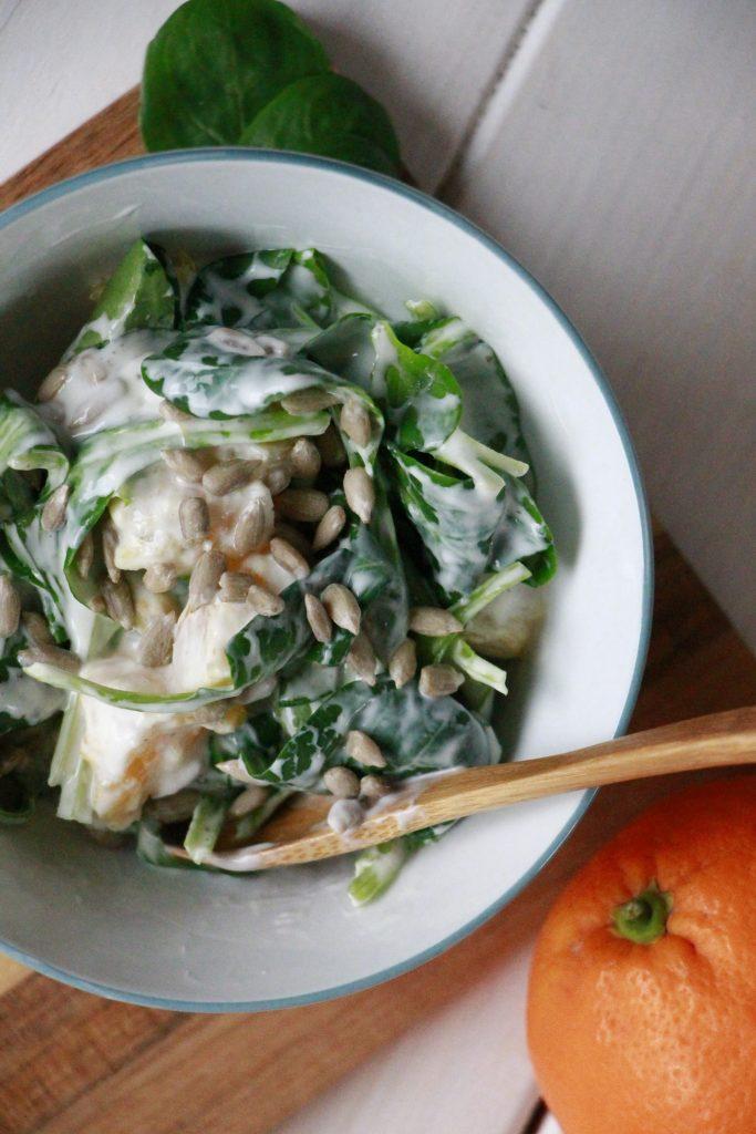 Rezept Feldsalat mit Orange und Joghurtsoße