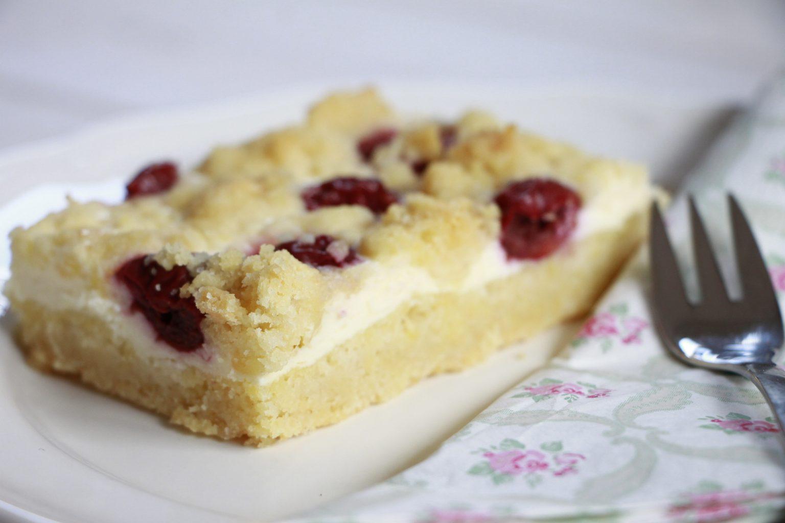 Schnelles Rezept Kirsch Streuselkuchen Mit Quark Lavendelblog