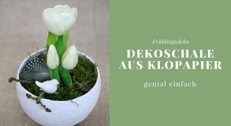 diy: pappmaschee-dekoschale aus klopapier selber machen - lavendelblog