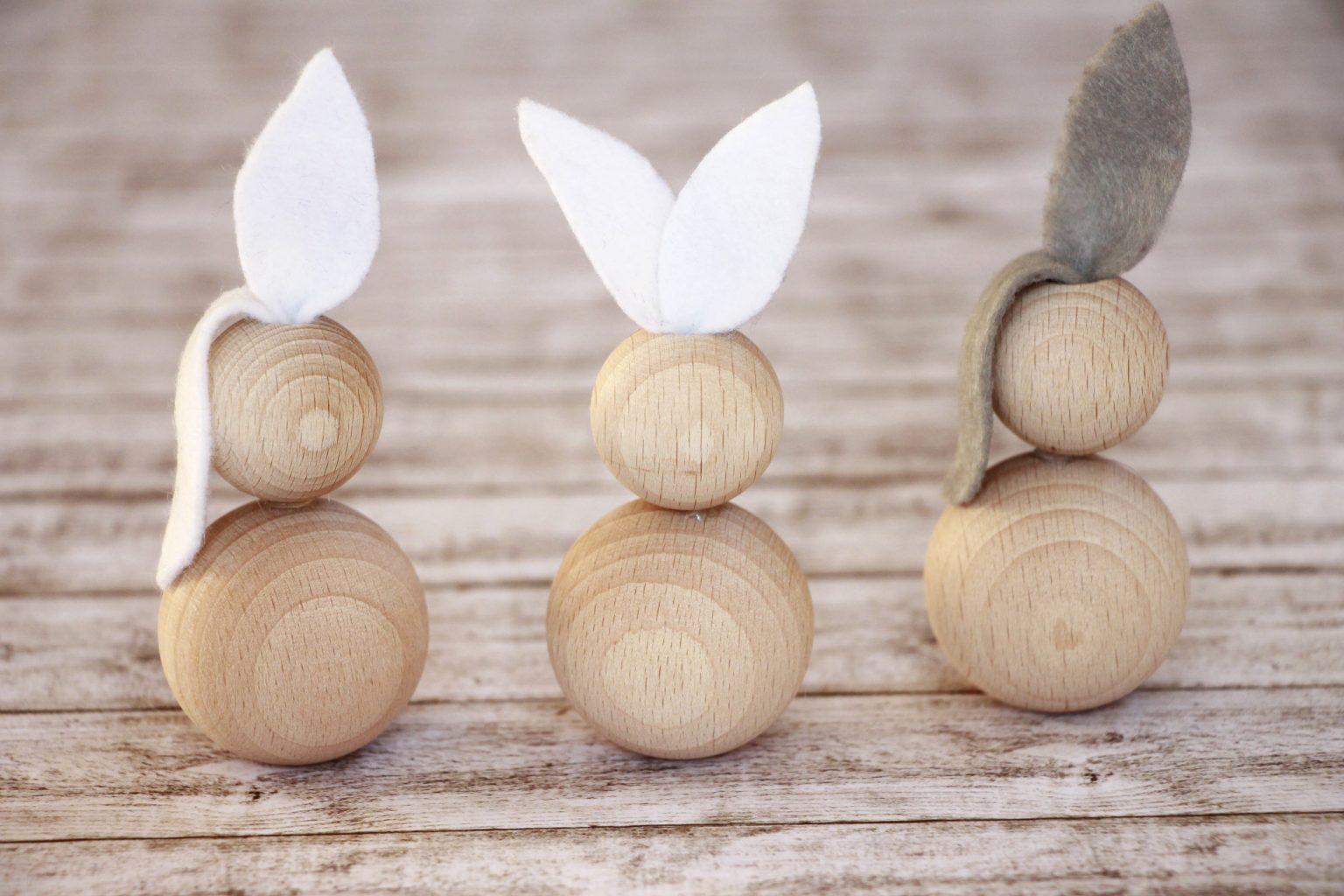 Osterhase aus Holzperlen