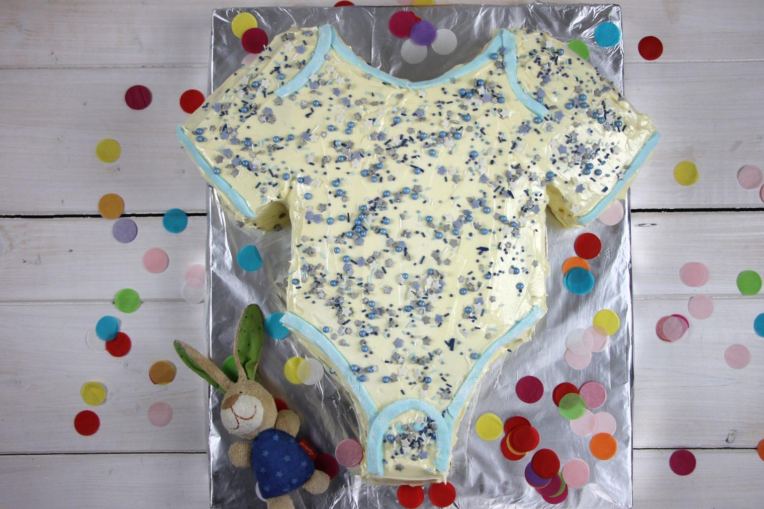 Babyparty Kuchen blau
