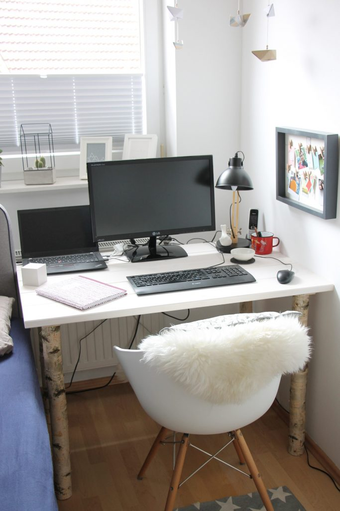 scandi schreibtisch selber bauen anleitung f r einen gem tlichen arbeitsplatz im schlafzimmer. Black Bedroom Furniture Sets. Home Design Ideas