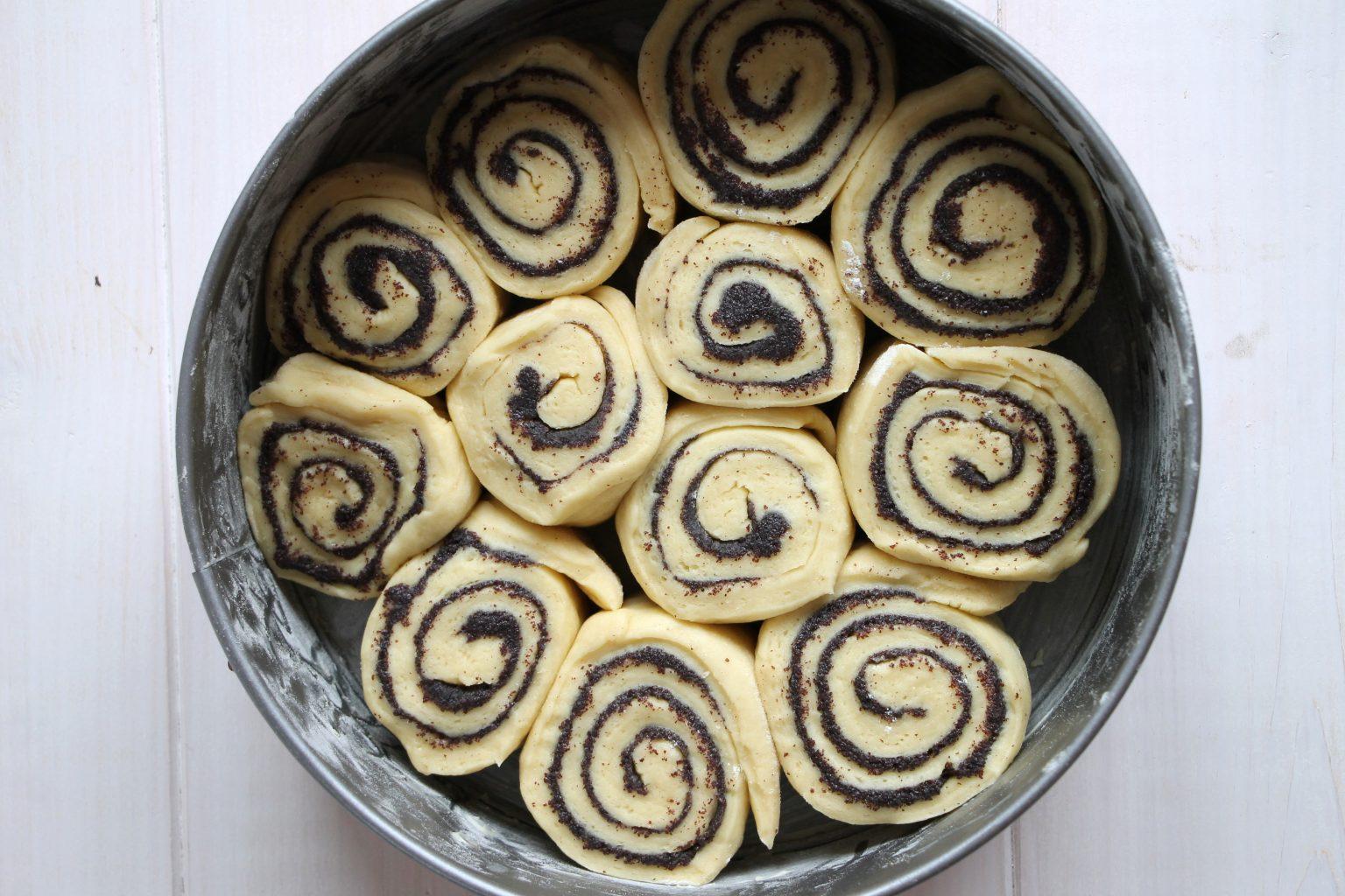 Mohnschnecken-Kuchen Rezept