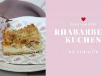 Rezept: Rhabarber-Blechkuchen mit Streusel