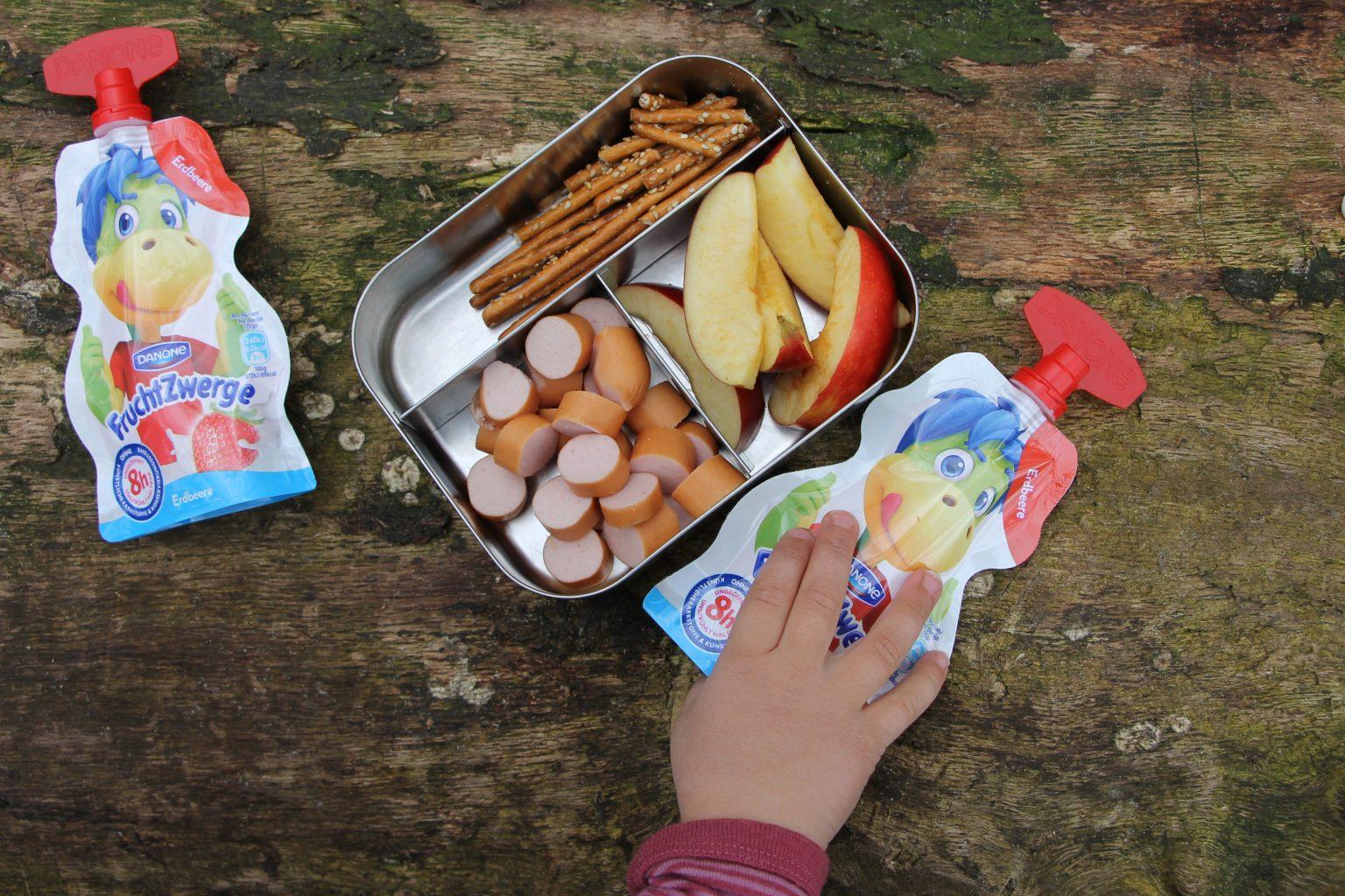 schnelle Snacks für Kinder Ideen FruchtZwerge
