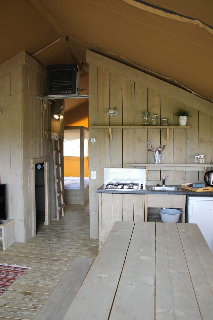 Ausstattung Lodge-Zelt Ferienpark De Twee Bruggen