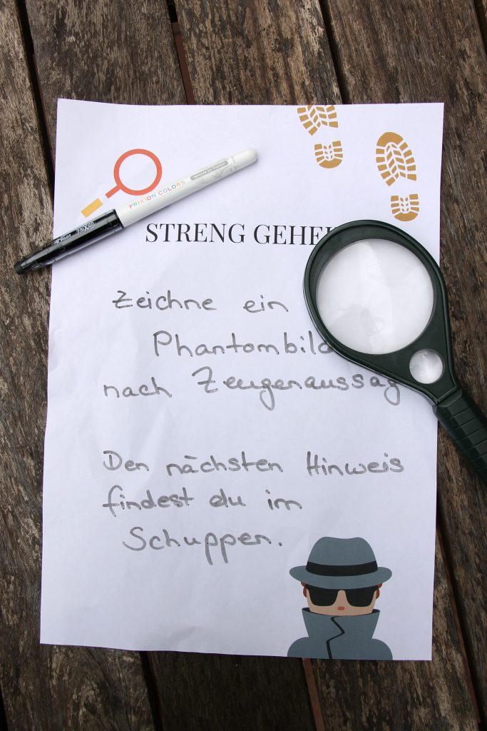 Detektivgeburtstag Spiele Ideen