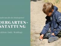 Was braucht man für den Kindergarten? – Checkliste für die Kindergarten-Ausstattung