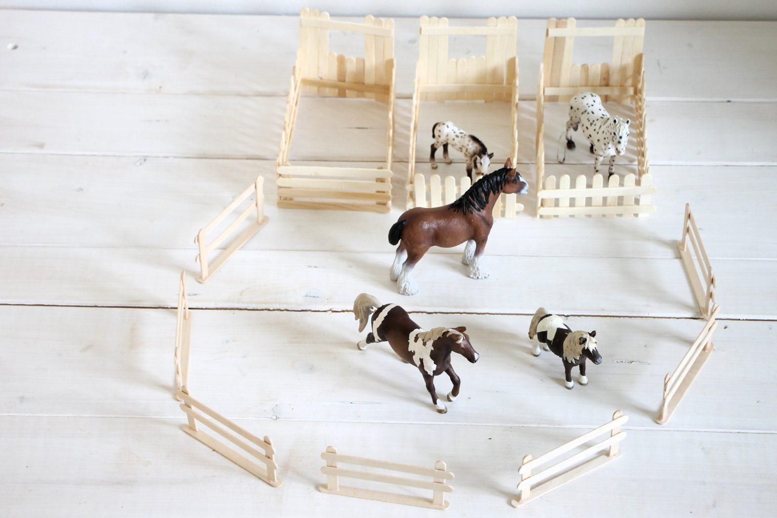 Eisstiele basteln Kinder Pferde