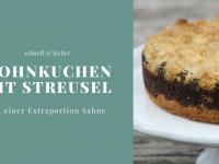 Schneller Mohnkuchen mit Streusel – Rezept