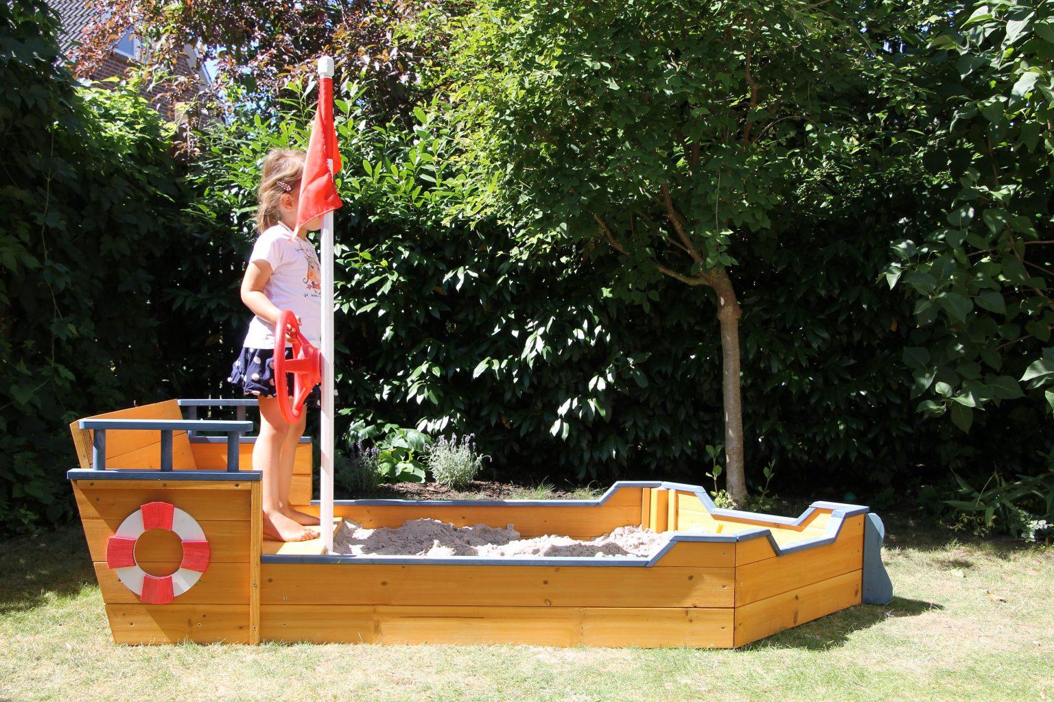 Sandkasten bauen Boot