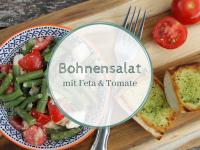 Rezept: Bohnensalat mit Feta und Tomate