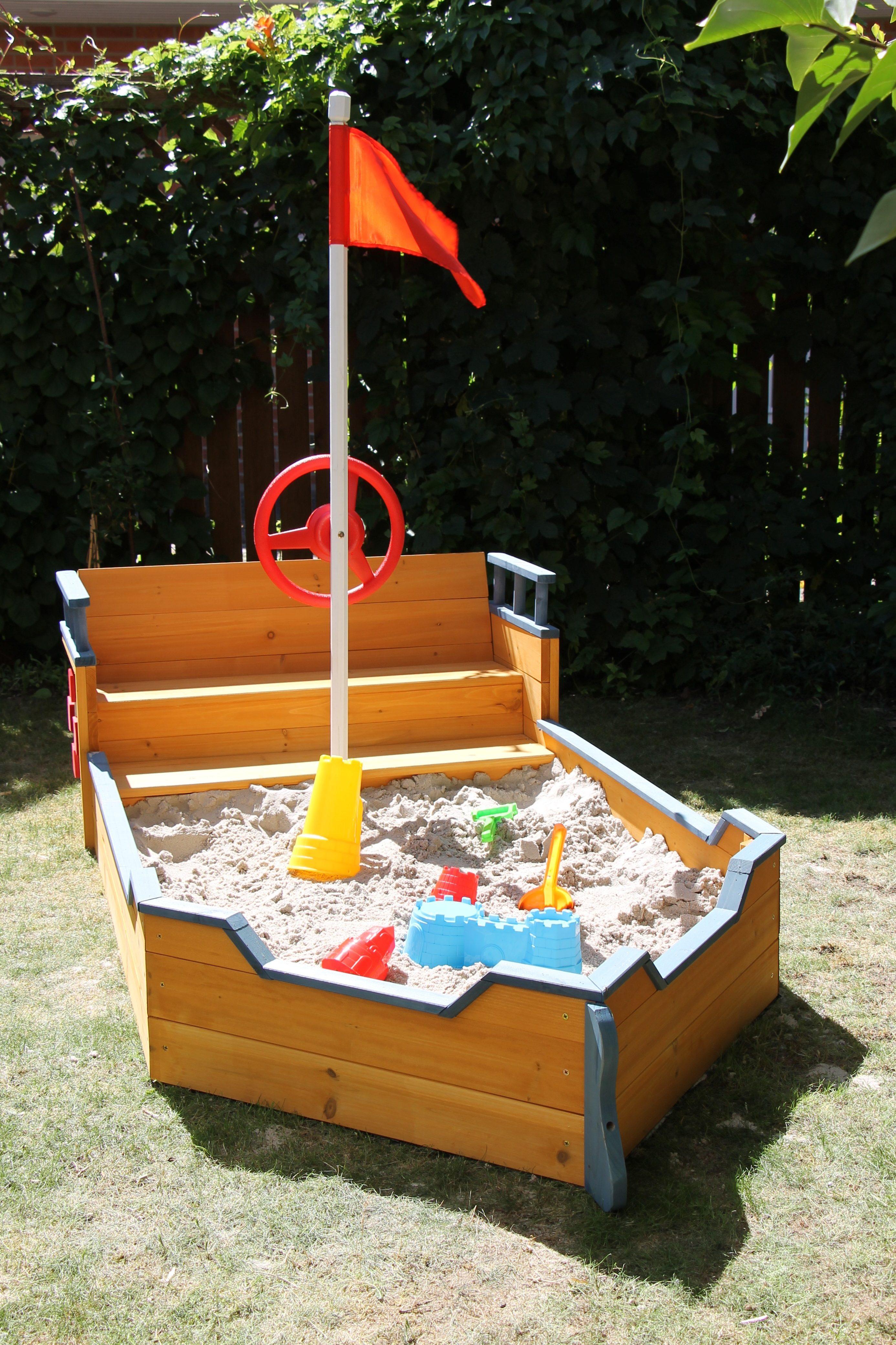 Sandkasten schiff