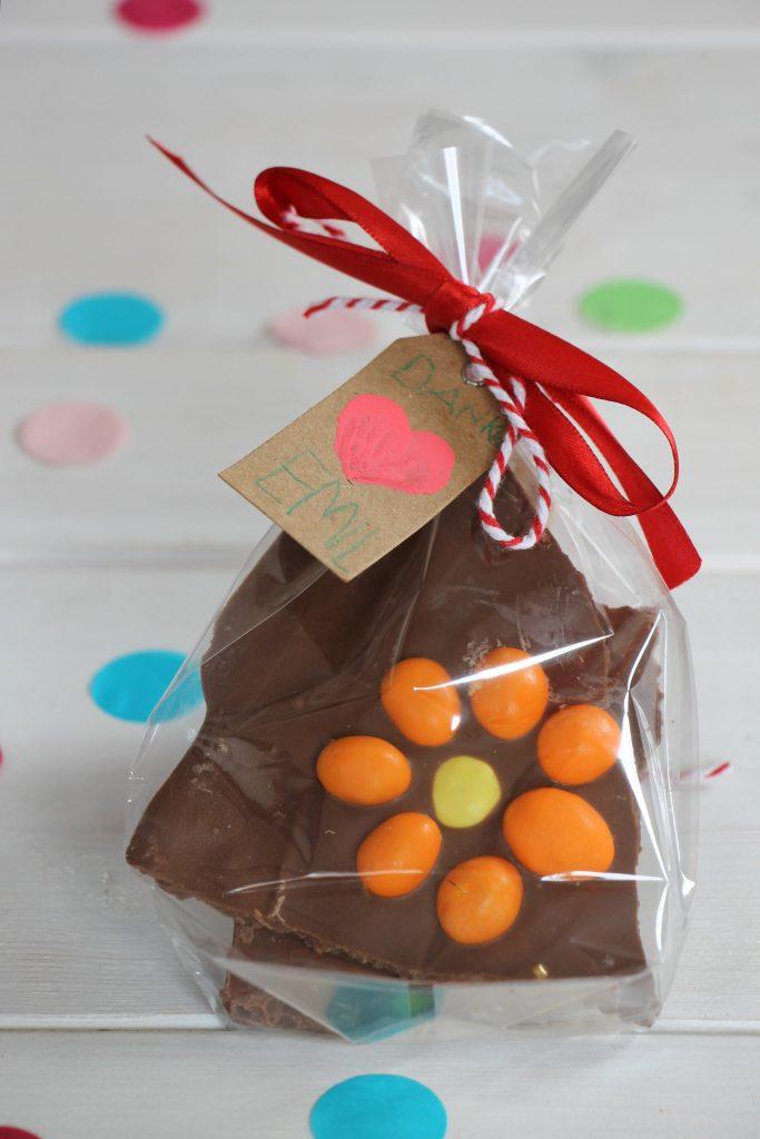 selbstgemachte Schokolade Geschenkidee