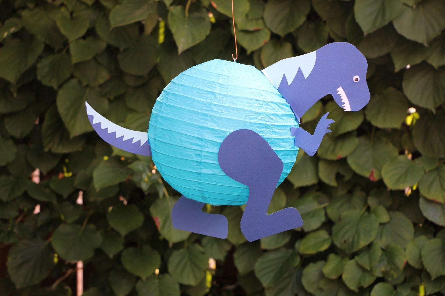 Dinosaurier Laterne basteln