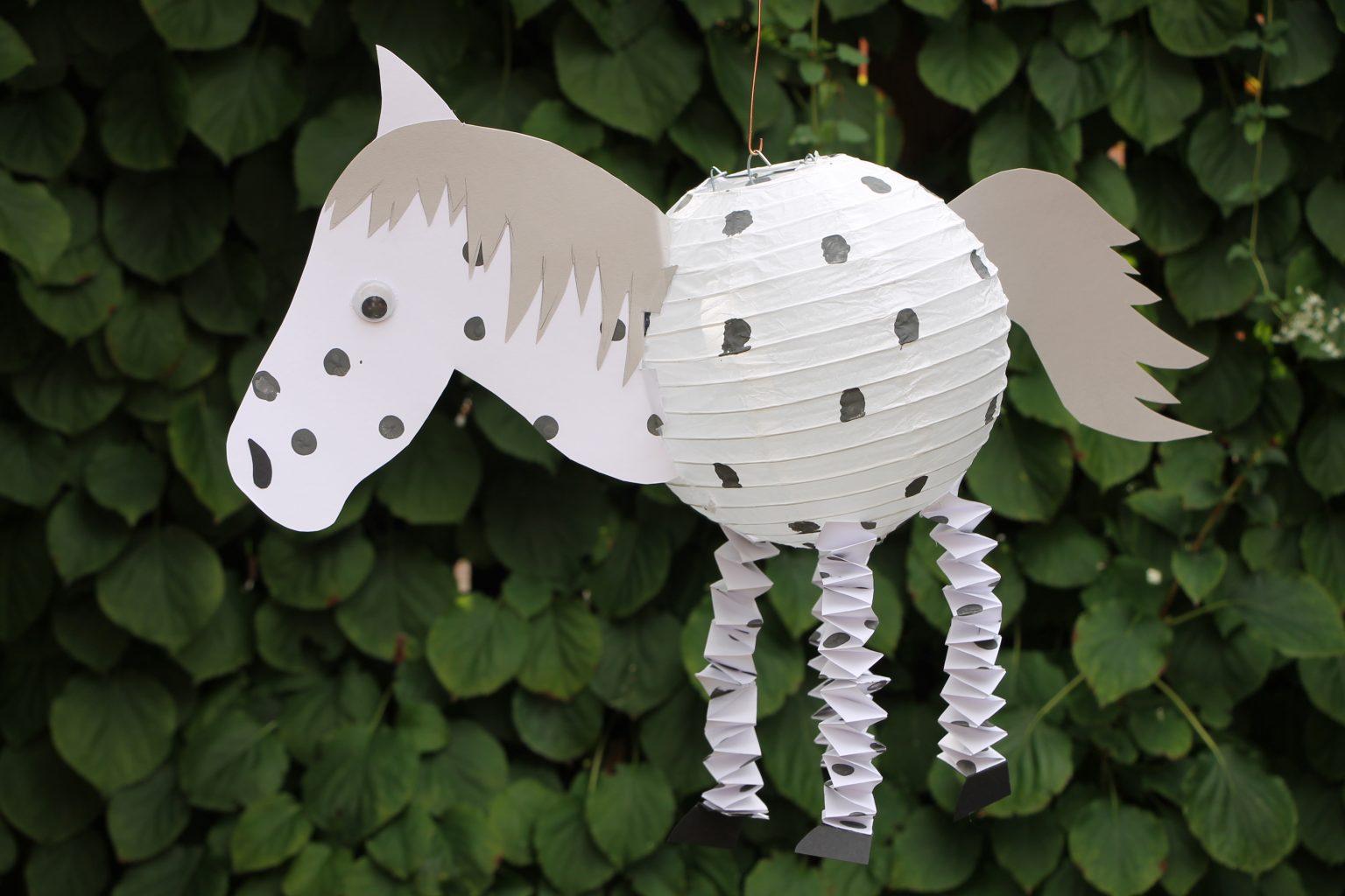 Laterne Pferd basteln
