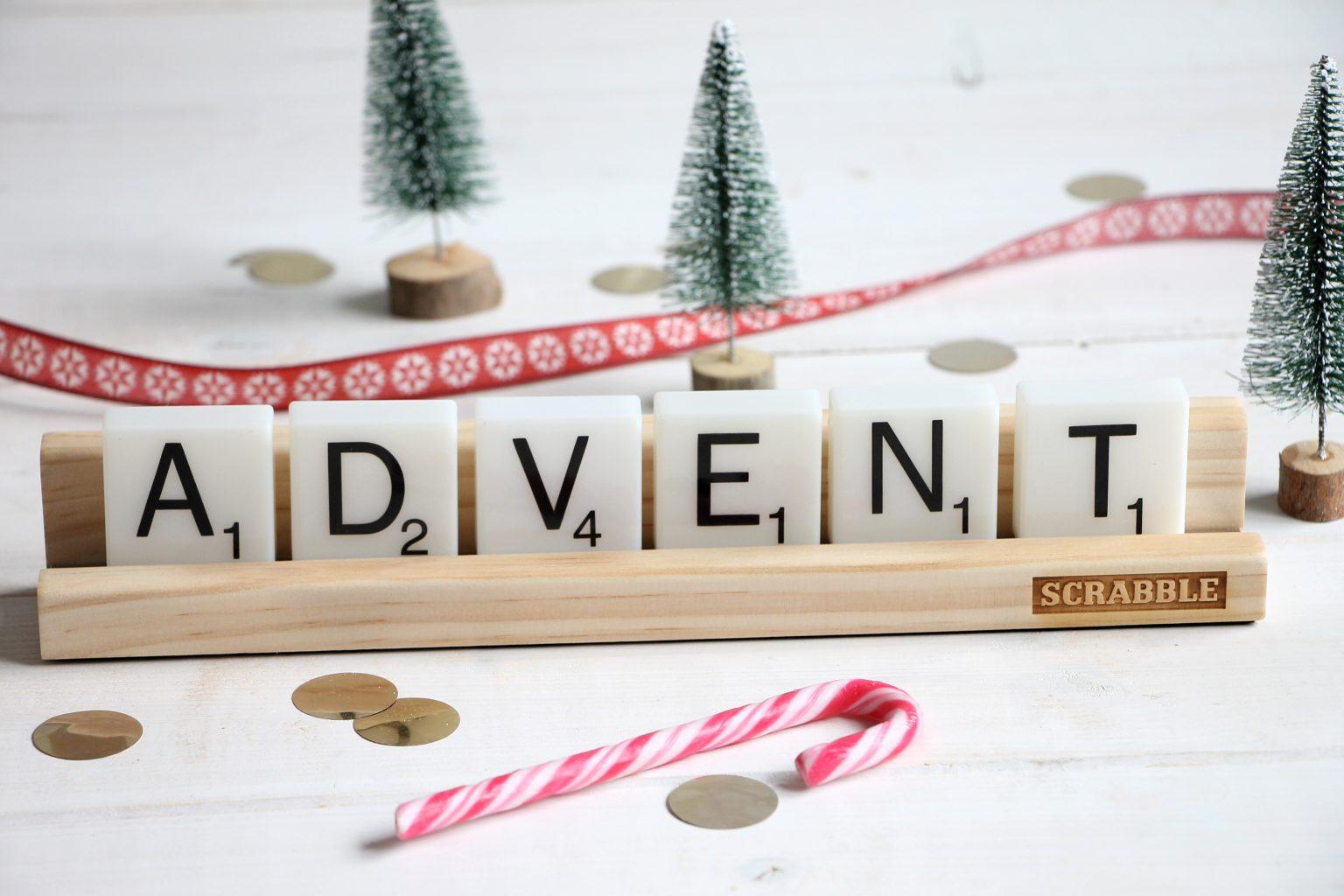 Geschenkidee Weihnachten Scrabble Dekolicht