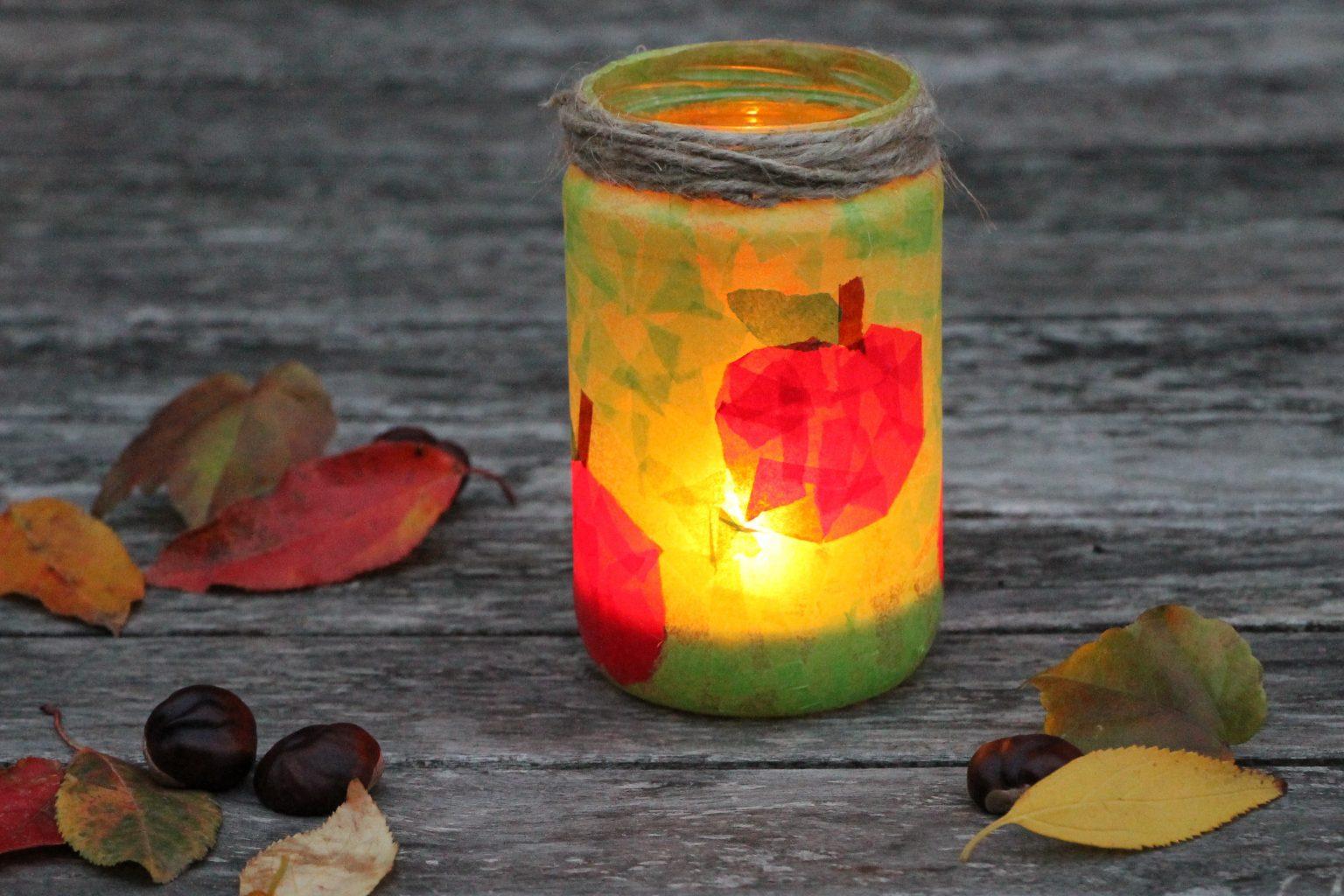 Gläser Upcycling Windlichter Basteln Mit Transparentpapier