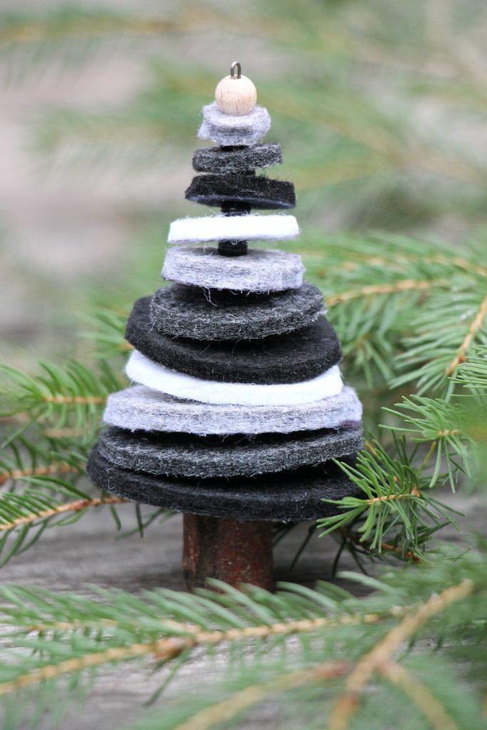 Bastelidee Weihnachten Tannenbaum