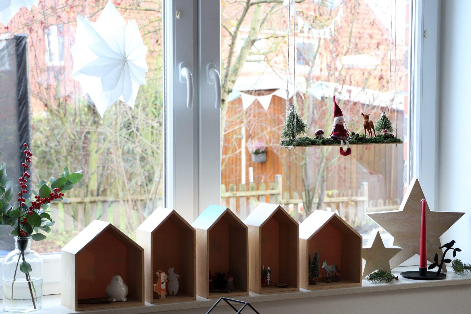 Fensterdeko Weihnachten DIY