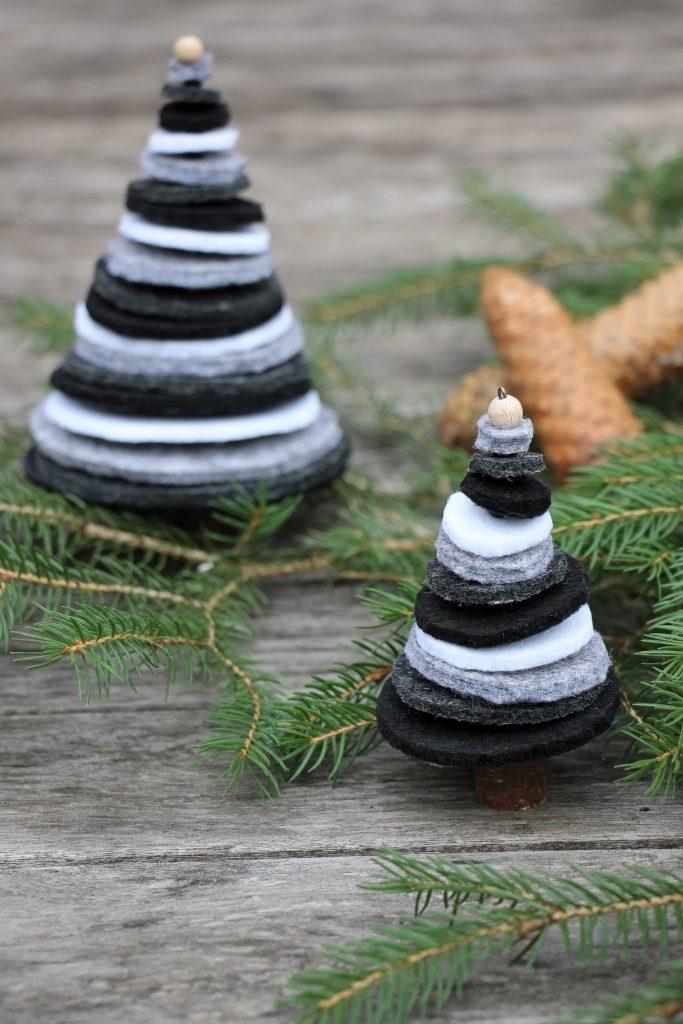 Wann Kann Man Weihnachtsdeko Aufstellen.Filz Tannenbäume Als Weihnachtsdeko Oder Tannenbaumschmuck