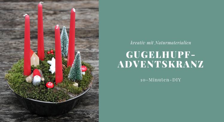 Gugelhupf Adventskranz DIY