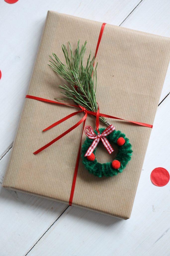 Pfeifenreiniger Weihnachtskranz Anleitung