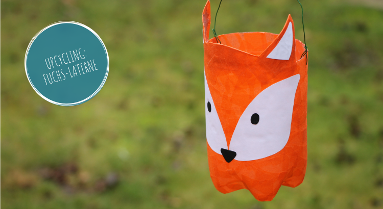 Upcycling Laterne Fuchs