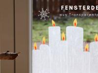 Weihnachtliche Fensterdeko: Transparentpapier-Kerzen basteln