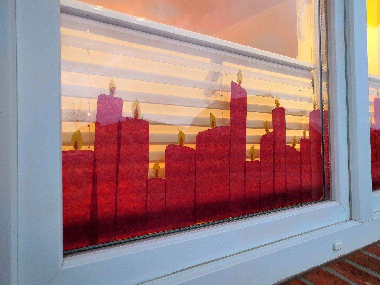 Kerzen Transparentpapier Fenster