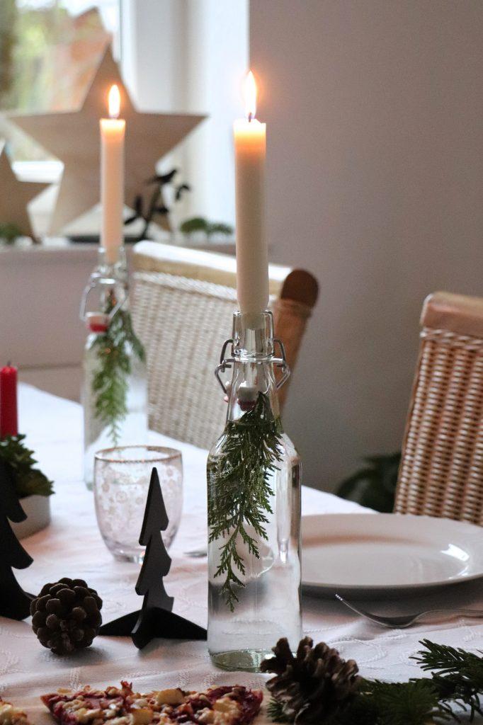 Kerzen in Flasche DIY