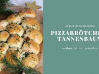 Snacks zu Weihnachten: Pizzabrötchen-Tannenbaum-Rezept