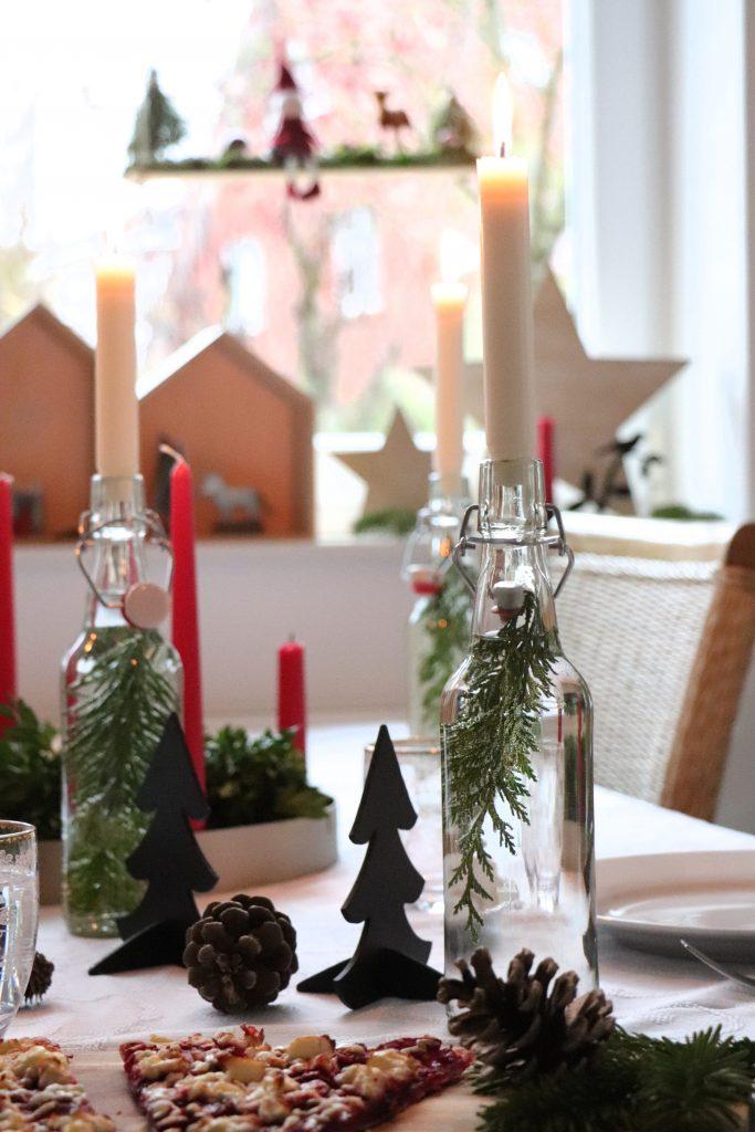 Tischdeko Weihnachten Idee