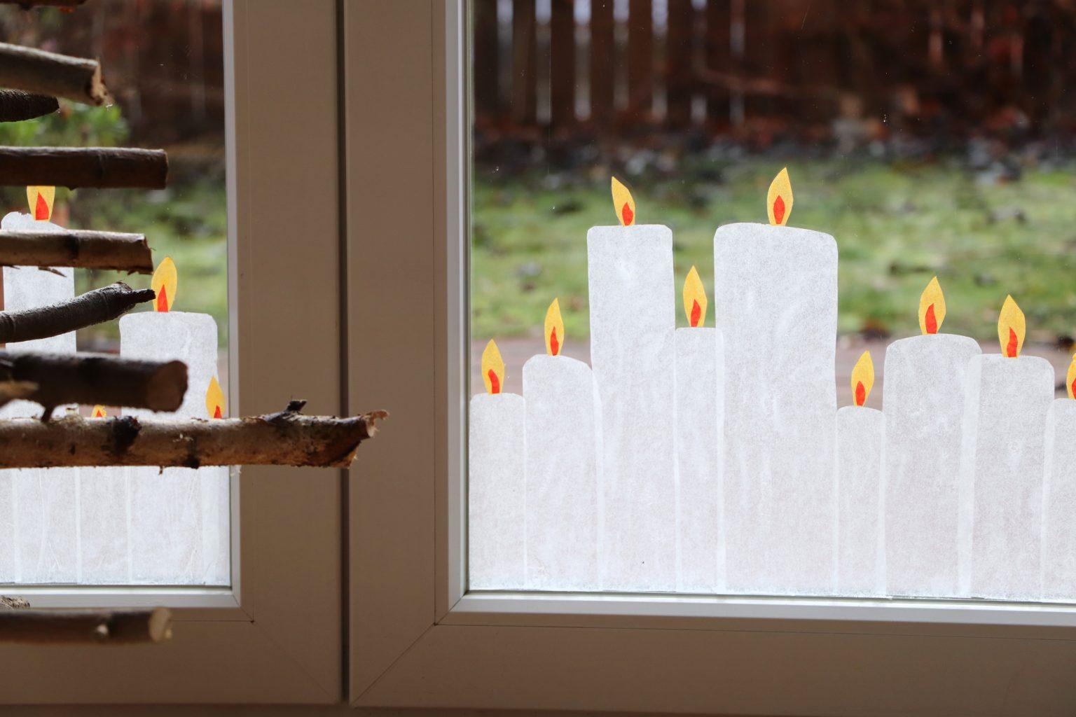 Transparentpapier-Kerzen basteln
