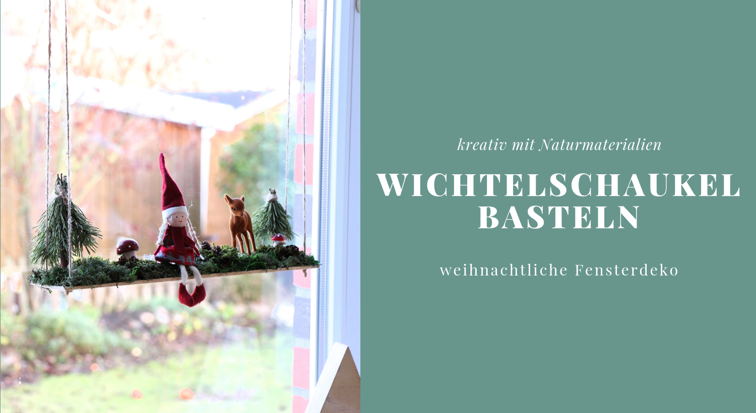 diy wichtelschaukel als weihnachtliche fensterdeko lavendelblog. Black Bedroom Furniture Sets. Home Design Ideas