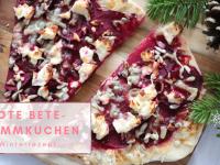 Anzeige – Winterrezept: Rote Bete-Flammkuchen und ein weihnachtlich gedeckter Tisch (in Kooperation mit Rheinfels Quelle)