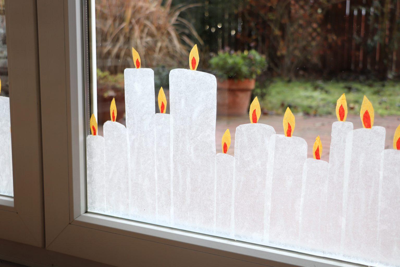weihnachtliche Fensterdeko Idee
