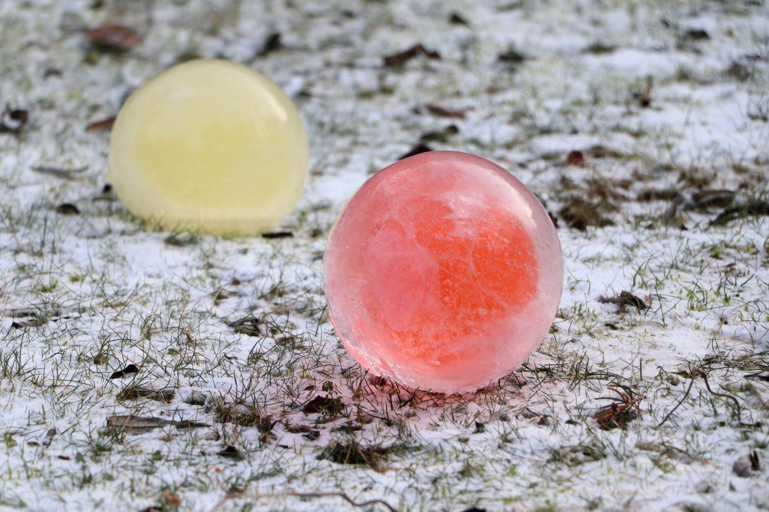 Eiskugeln färben Anleitung